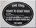 NZ9504 : The eastern end of the Coast to Coast Walk by Humphrey Bolton