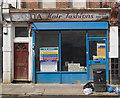 TQ3091 : Former hairdresser shop, Myddleton Road by Jim Osley