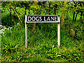 TM4192 : Dogs Lane sign by Adrian Cable