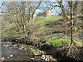 NY8548 : The River East Allen above the old Corn Mill by Mike Quinn