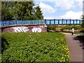 SJ3398 : Graffiti on footbridge over Leeds to Liverpool canal by Norman Caesar