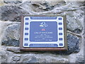 Photo of George Emlyn Williams film cell plaque