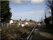 SK6443 : East end of Burton Joyce railway station by Richard Vince