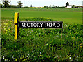 TM3993 : Rectory Road sign by Adrian Cable