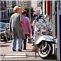 J5081 : Moped, Bangor by Rossographer