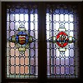 SJ8498 : Stained Glass Window, Denton Magistrates' Court by David Dixon