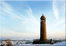 SK3455 : Crich Stand, New Year's Day 1999 by Des Blenkinsopp