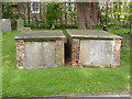 SK4635 : Chest tombs, Risley churchyard by Alan Murray-Rust