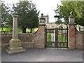 SK4635 : Churchyard gateway and war memorial, All Saints, Risley by Alan Murray-Rust