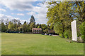 TQ2150 : Cricket pitch, Red Lion by Ian Capper