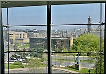 SE1632 : Looking out from National Media Museum, Bradford by Chris Morgan
