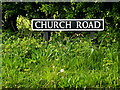 TM4295 : Church Road sign by Adrian Cable