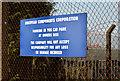 J4374 : Old European Components Corporation sign, Dundonald by Albert Bridge