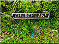 TM4396 : Church Lane sign by Adrian Cable