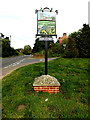 TM4396 : Haddiscoe Village sign by Adrian Cable