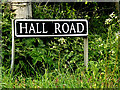 TM4396 : Hall Road sign by Adrian Cable
