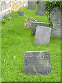 SK6733 : Various gravestones, St Margaret's church yard, Owthorpe by Alan Murray-Rust