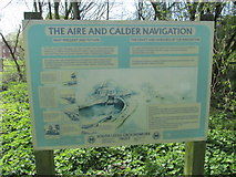 SE3629 : Information Board, Aire & Calder Navigation (1) by Mike Kirby