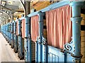 SJ8595 : Cast Iron Changing Cubicles, Victoria Baths by David Dixon