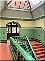 SJ8595 : Victoria Baths, Stairs and Landing to Males 1st Class Pool by David Dixon