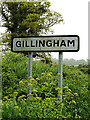 TM3992 : Gillingham Village Name sign on Yarmouth Road by Adrian Cable