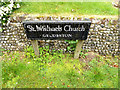 TM3992 : St.Michael's Church Name sign by Adrian Cable