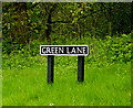 TM4196 : Green Lane sign by Geographer