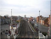 SK8508 : Oakham railway station by Richard Vince