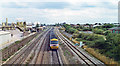 TQ0779 : Paddington - Reading main line at Dawley, near site of Airport Junction, 1994 by Ben Brooksbank