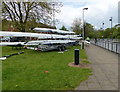 SK5803 : Rowing boats along Upperton Road by Mat Fascione
