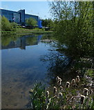 SK5802 : King Power Stadium and River Soar by Mat Fascione