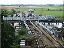 TG4201 : Reedham Swing Bridge by John Lucas