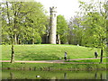 NZ3428 : Gothic tower in Hardwick Park by David Hawgood