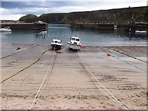 NO8785 : Low tide in Stonehaven harbour by Stanley Howe