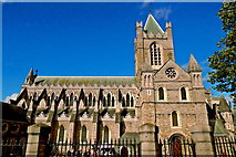 O1533 : Dublin - Christ Church Place - Christ Church Cathedral (1186-1240) by Suzanne Mischyshyn