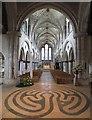 SU9007 : The labyrinth in Boxgrove church by David Smith
