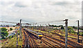 TL1898 : Peterborough Station: southward from Crescent Bridge 1992 by Ben Brooksbank