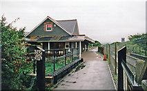 SH5639 : Porthmadog station, Welsh Highland Heritage Railway 1999 by Ben Brooksbank