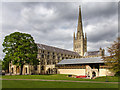 TG2308 : Norwich Cathedral by David P Howard