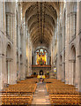 TG2308 : The Nave, Norwich Cathedral by David P Howard