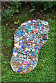 NM4784 : Giant Plastic Footprint by Anne Burgess