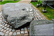 J4844 : Downpatrick - Cathedral Hill - Reputed Burial Site of Saint Patrick by Suzanne Mischyshyn