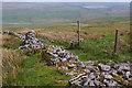 SD8669 : Ruined wall, Far Fell by Ian Taylor