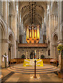 TG2308 : The Nave and Altar, Norwich Cathedral by David P Howard