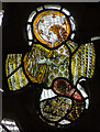 TQ7126 : Medieval stained glass fragment, Etchingham church by Julian P Guffogg