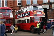 TQ3772 : Vintage buses at Catford bus garage by David Kemp