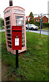 TM4493 : The Street Post Office George VI Postbox & Telephone Box by Adrian Cable