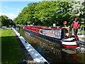 TL1097 : Narrow boat leaving Water Newton lock by Richard Humphrey