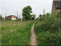 TL8647 : Footpath to High Street, Long Melford by Roger Jones