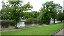 SK0573 : Paths and lake at Pavilion Gardens, Buxton by Clint Mann